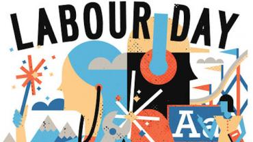 Canadian Association of Labour Media Labour Day Poster