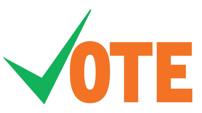 The word 'Vote' in green and orange