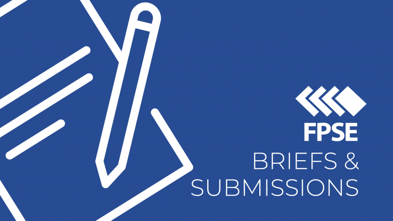 briefs & submissions